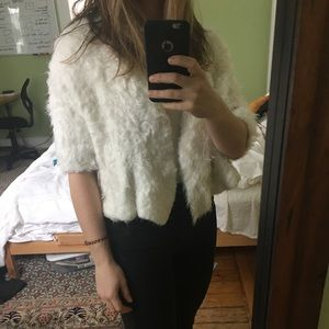 Soft and fuzzy stole